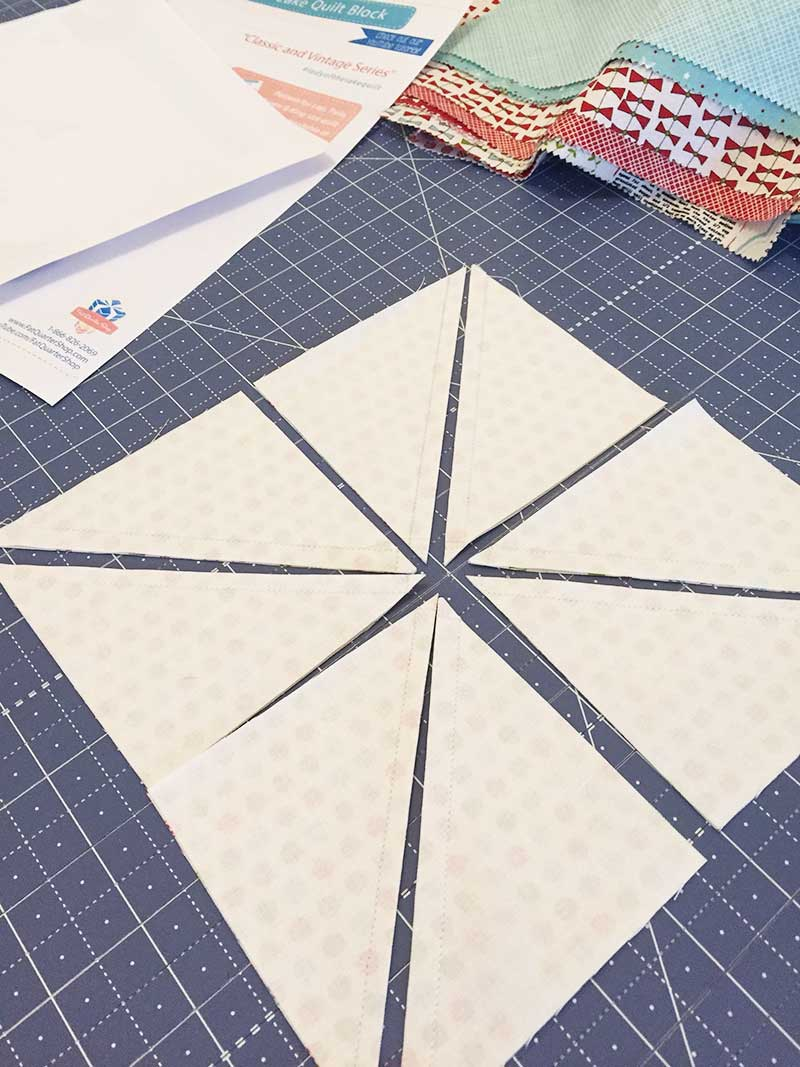 Lady of the Lake Quit block hst cutting