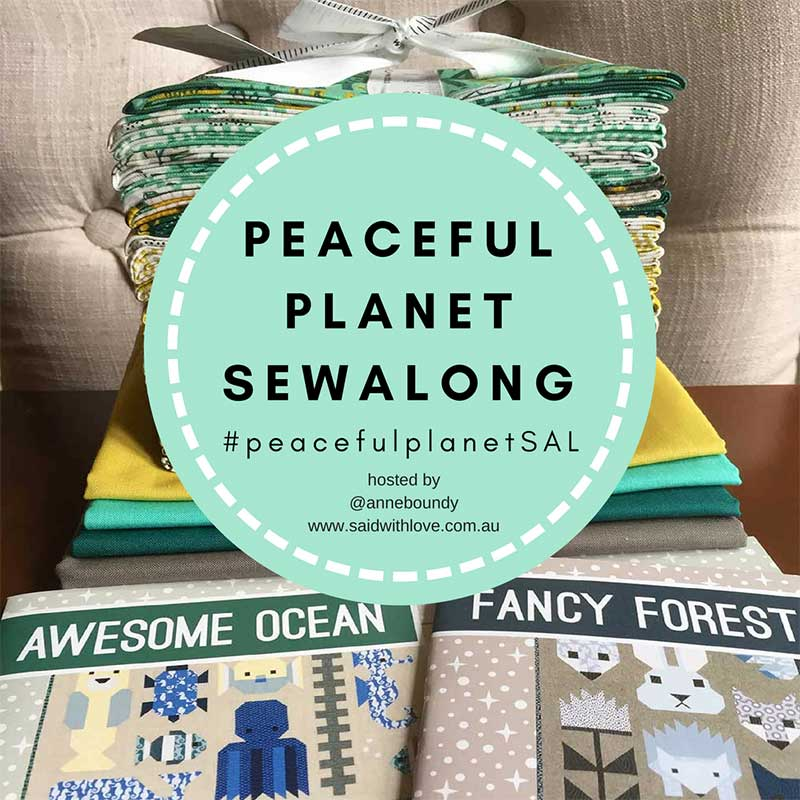 Peaceful Planet Sew Along