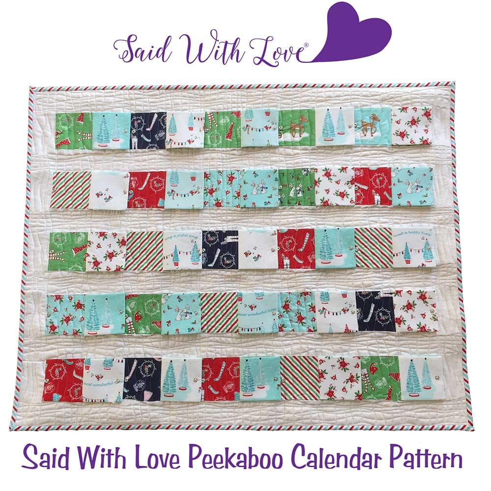 Peekaboo Calendar Pattern