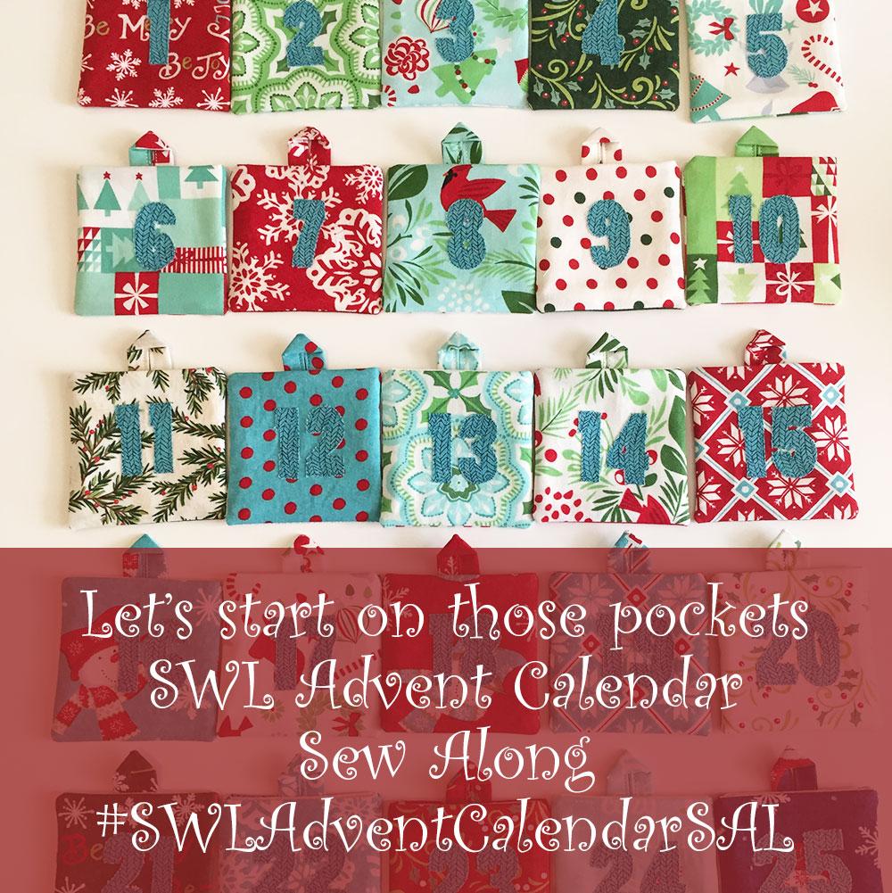 Said With Love Advent Calendar pockets