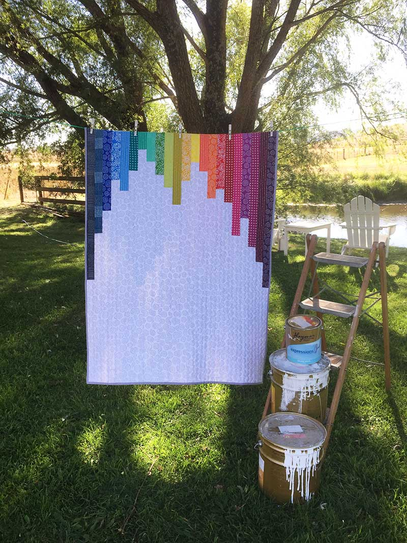 Pattern Release – Rainbow Paint Can Quilt