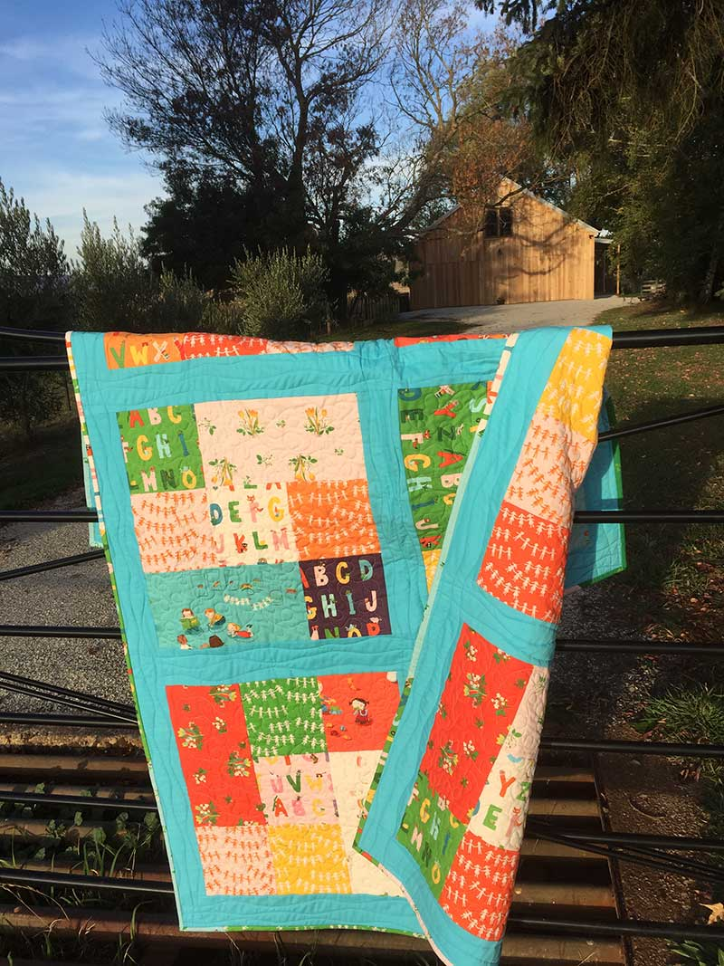 Fat Quarter Cubes Quilt double sided
