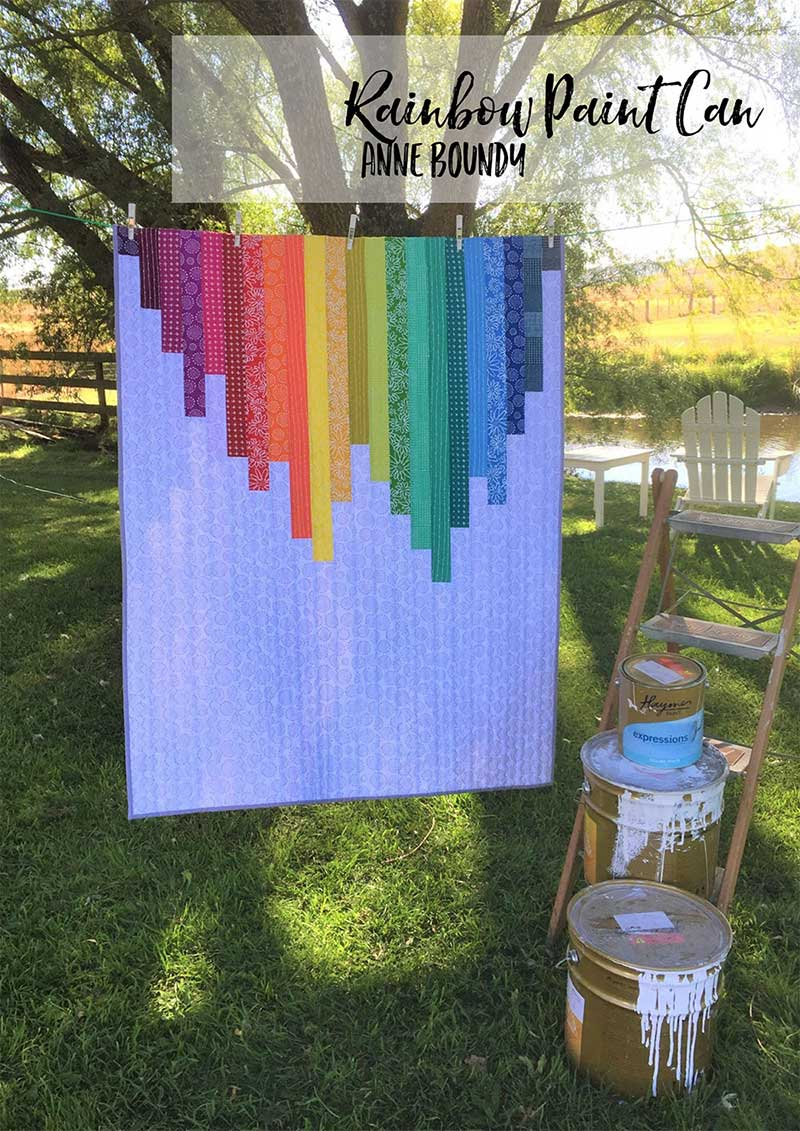 Rainbow Paint Can Quilt in Make Modern Magazine