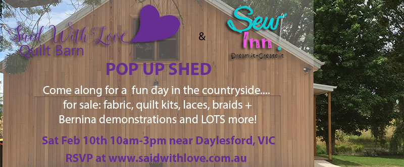 Pop Up Shop coming to the Quilt Barn