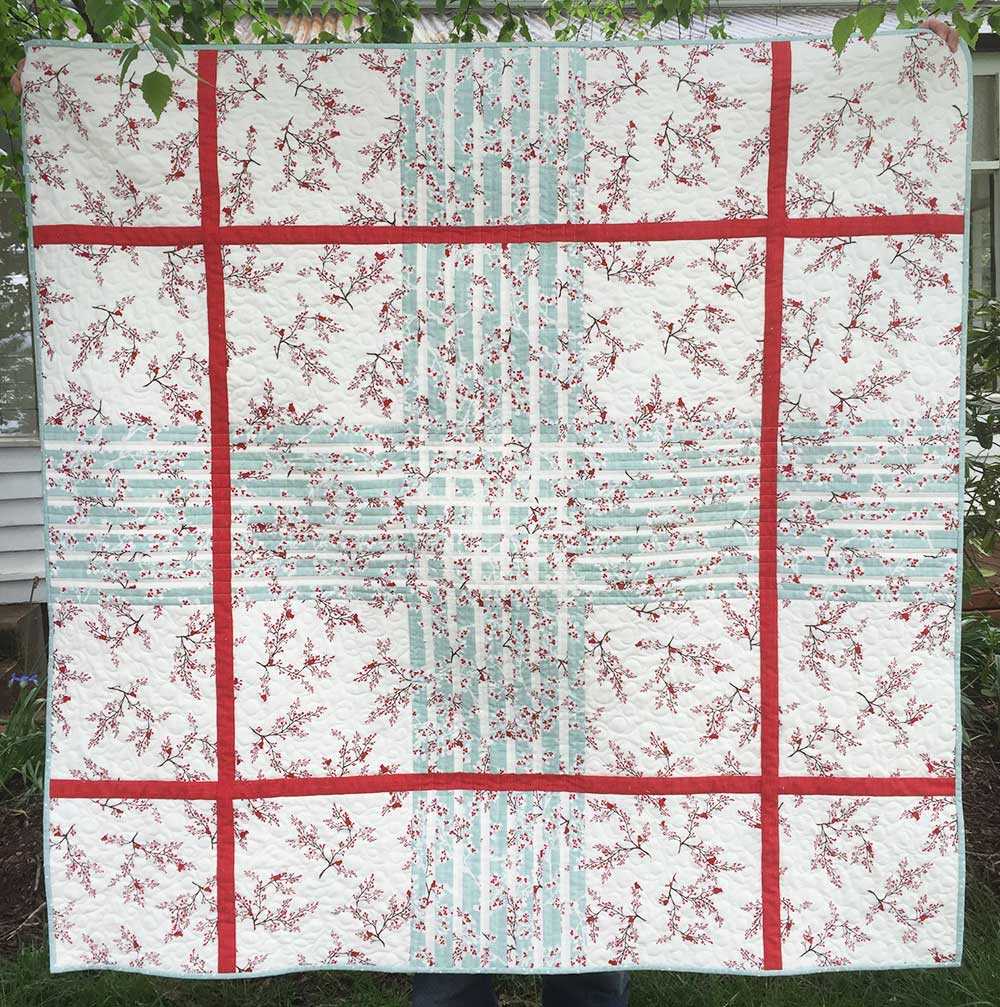 Window over Winter's Lane Quilt pattern release