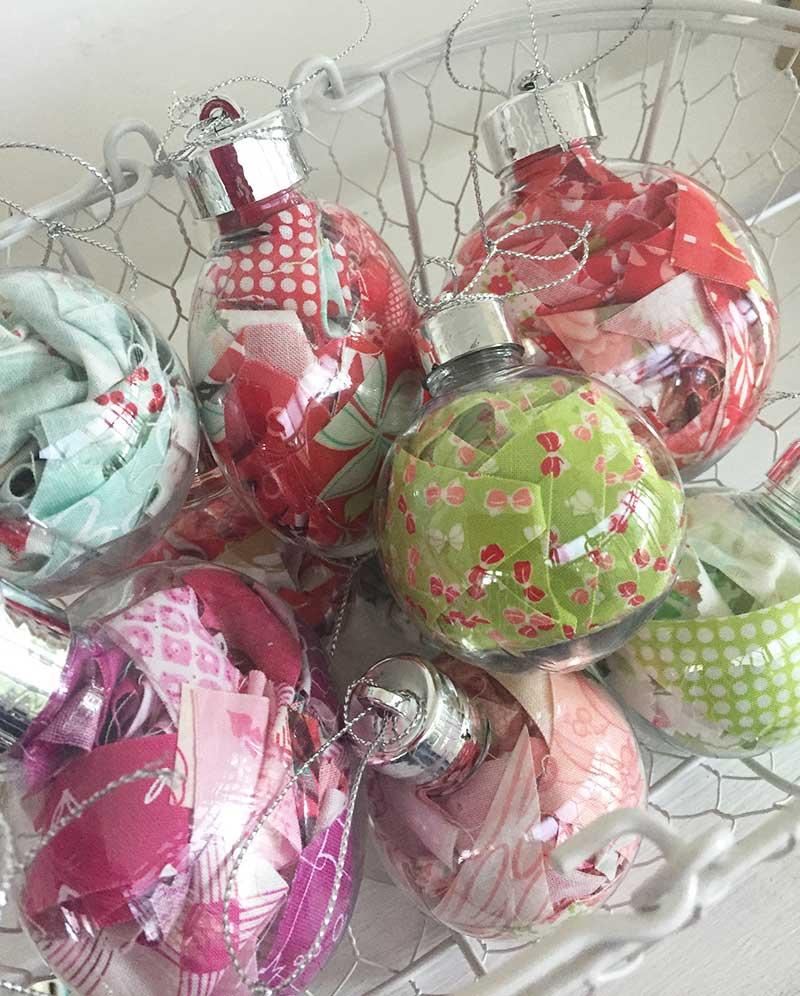 Scrappy Fabric Xmas Ornaments