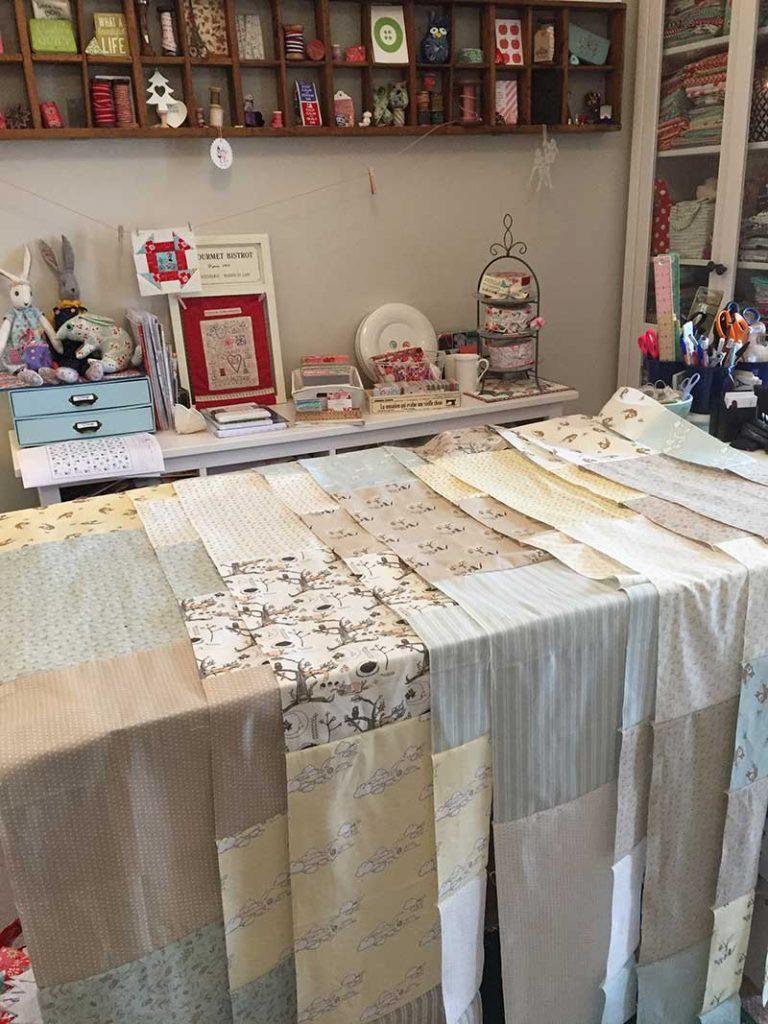 Cobblestone Quilt - design table