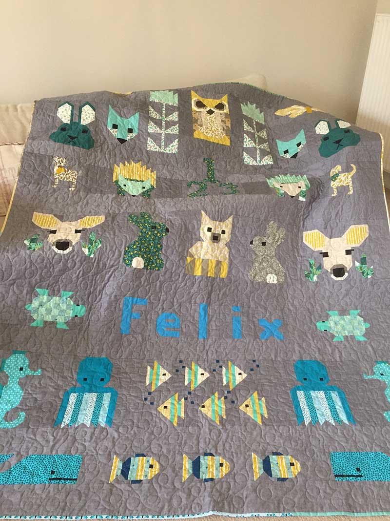 Elizabeth Hartman's All the Animals Sew Along Quilt
