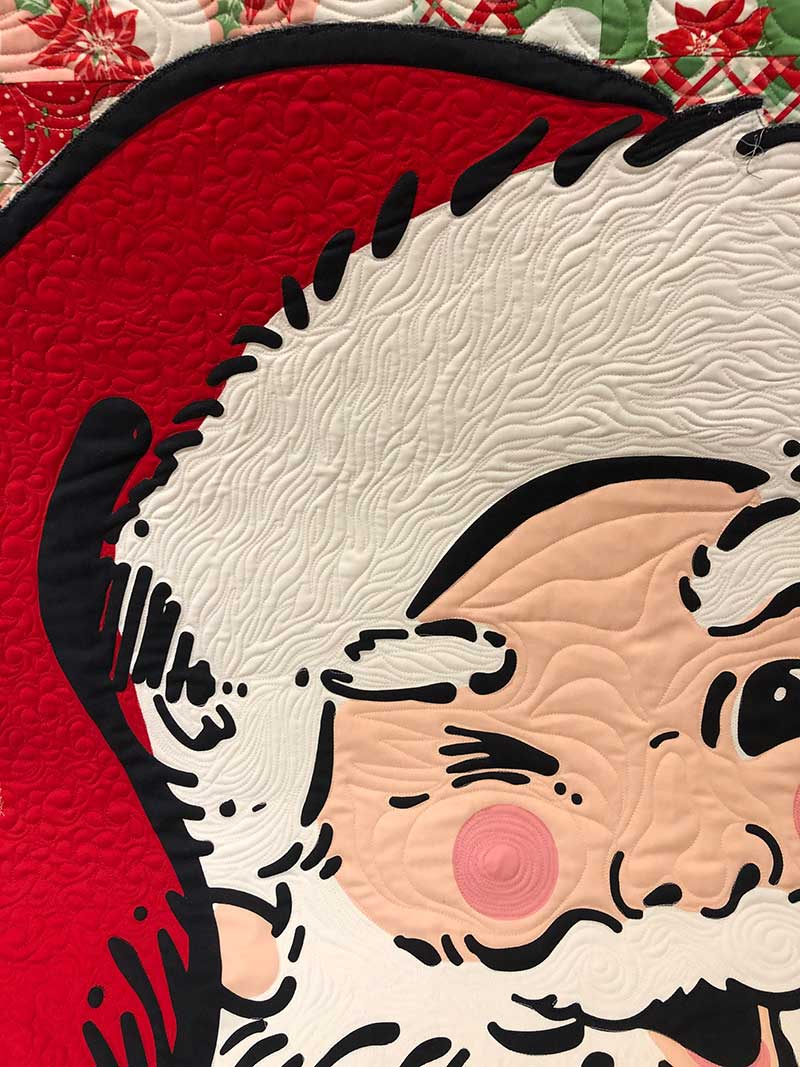 swell christmas santa face quilting
