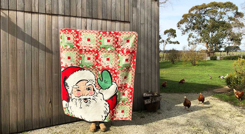 swell christmas santa said with love quilt barn