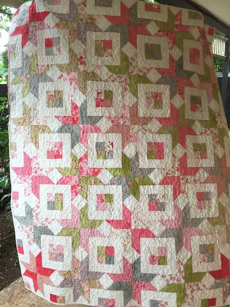 Sakura Birthday Quilt Said With Love