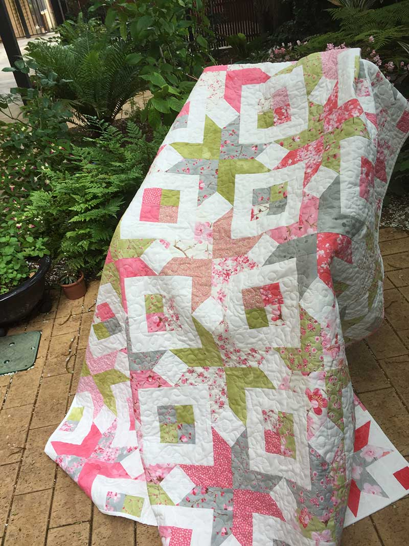 Sakura Birthday Quilt