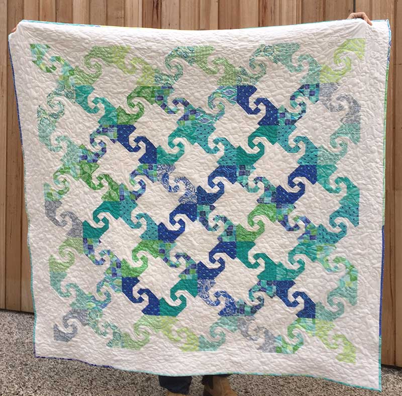 Snail Trail Quilt Said With Love